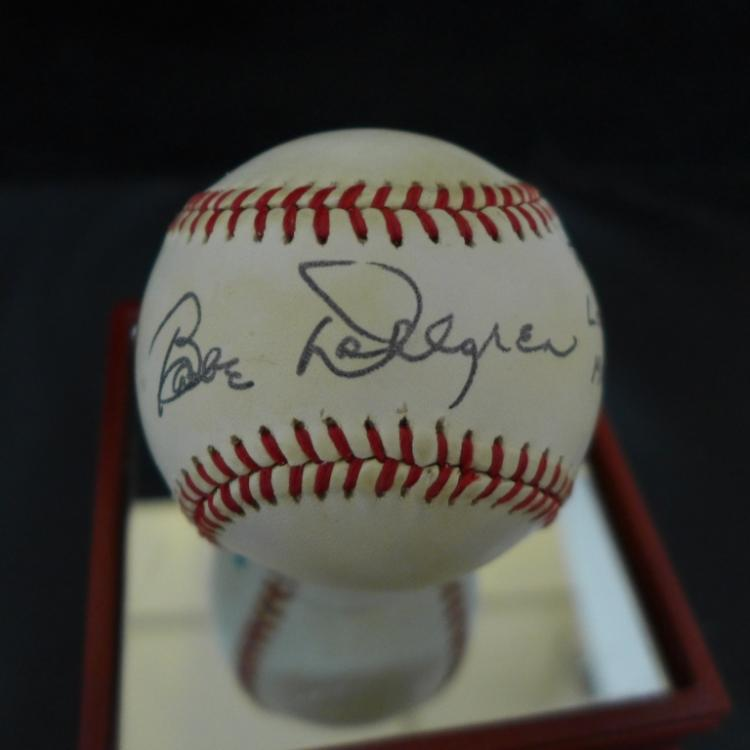 Babe Dahlgren Signed American League Baseball