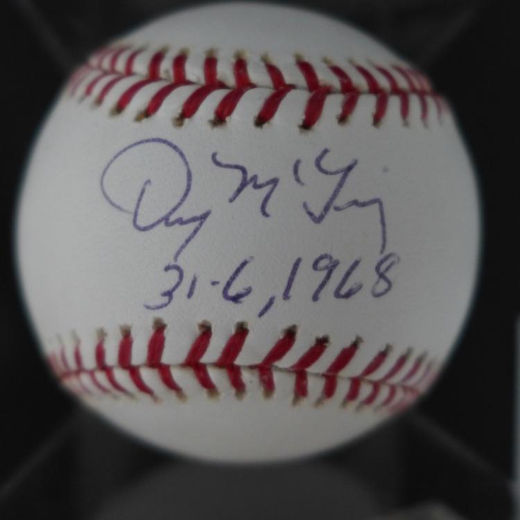 Denny McLain Signed MLB Baseball