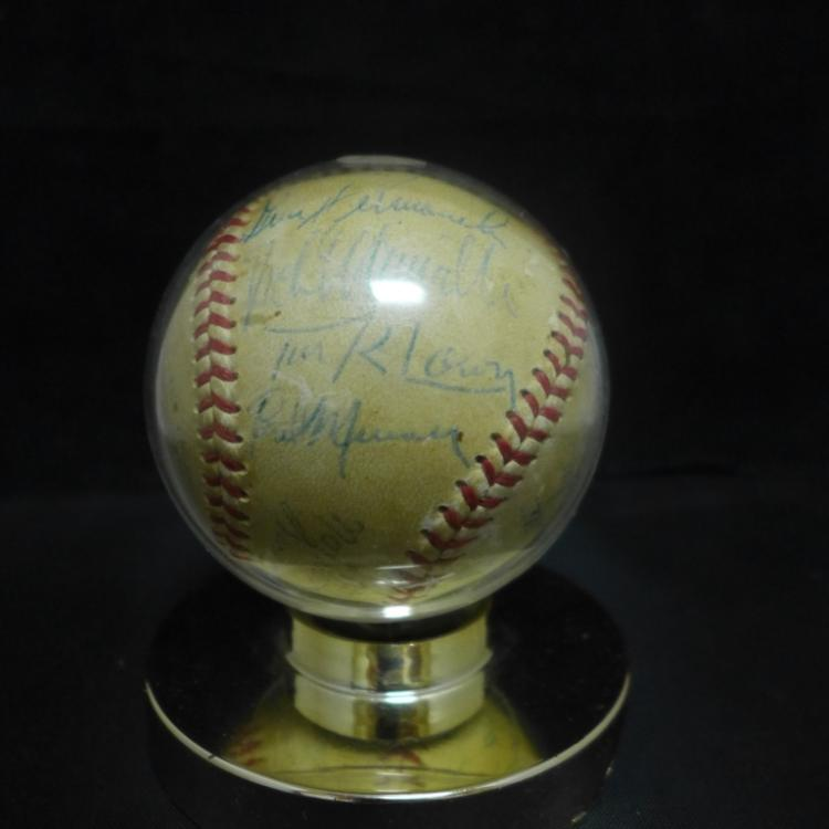 1952 Chicago Cubs Signed Team Ball w/ JSA