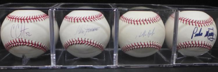 Assortment of Four MLB Autographed Baseballs