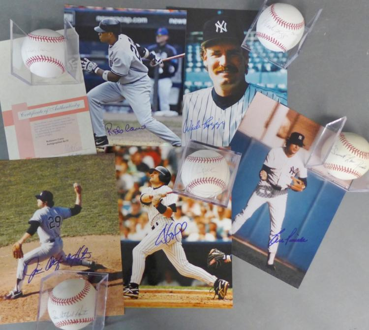 New York Yankees Autographed Photos & Baseballs