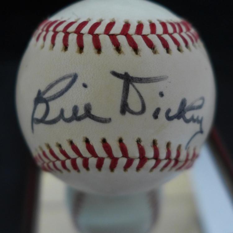 Bill Dickey Autographed Baseball w/ JSA