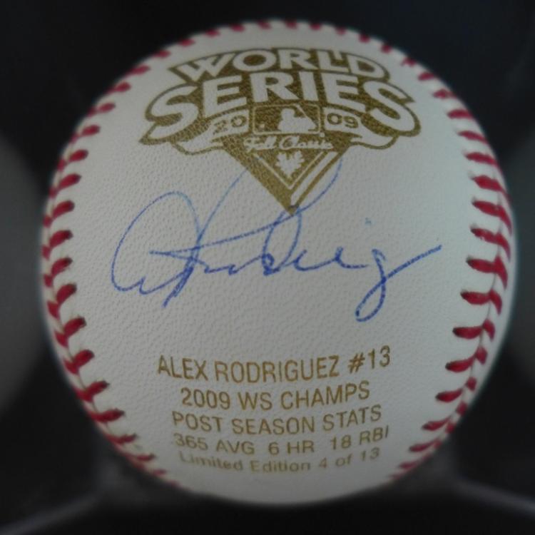 Alex Rodriguez Autographed 2009 WS Baseball