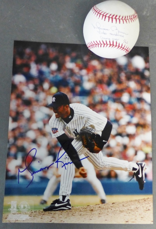 Mariano Rivera Autographed Photo &  Baseball