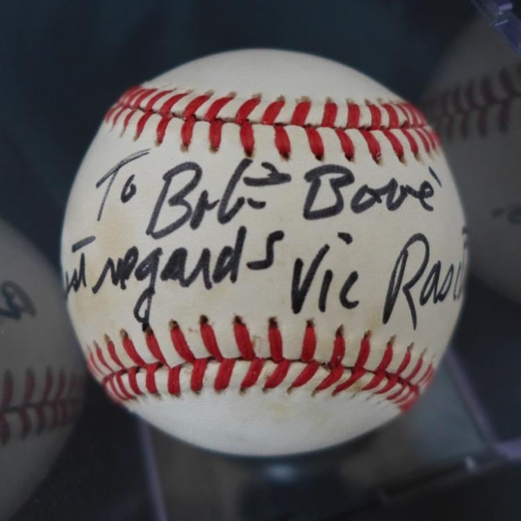 Vic Raschi Autographed American League Baseball