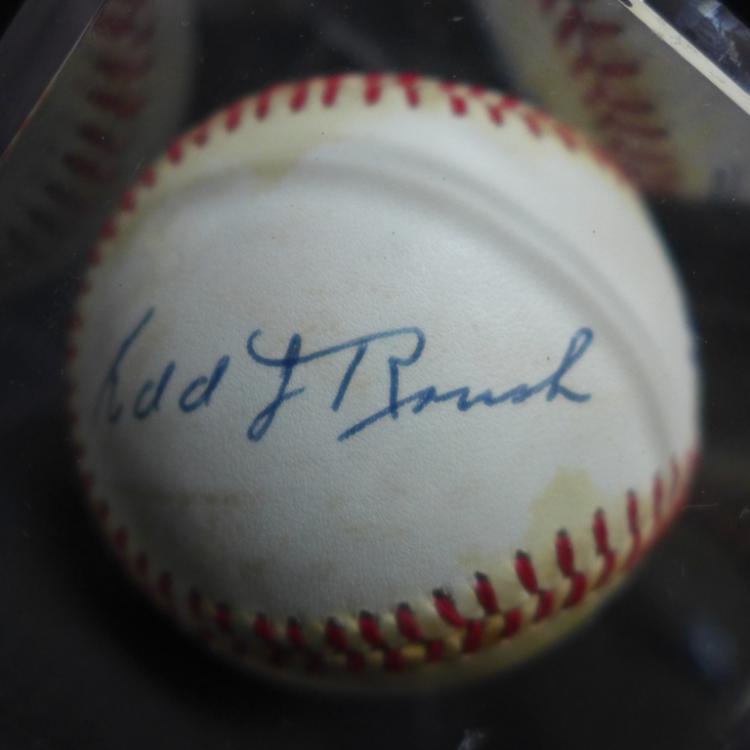 Edd Roush Autographed 1979 World Series Baseball