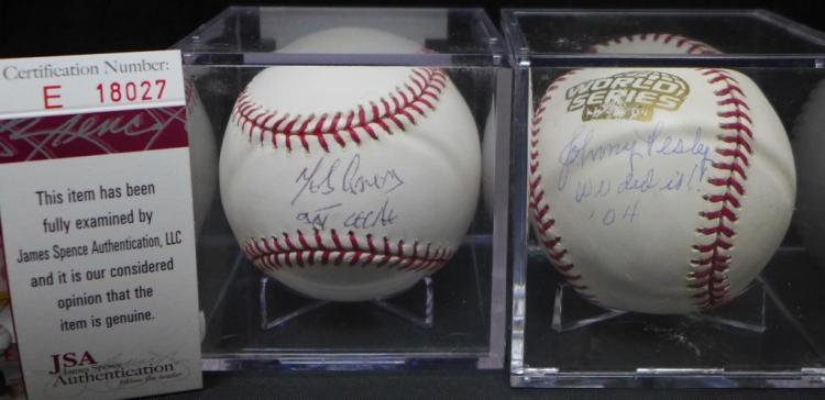 Melky Cabrera & Johnny Pesky Autographed Baseballs