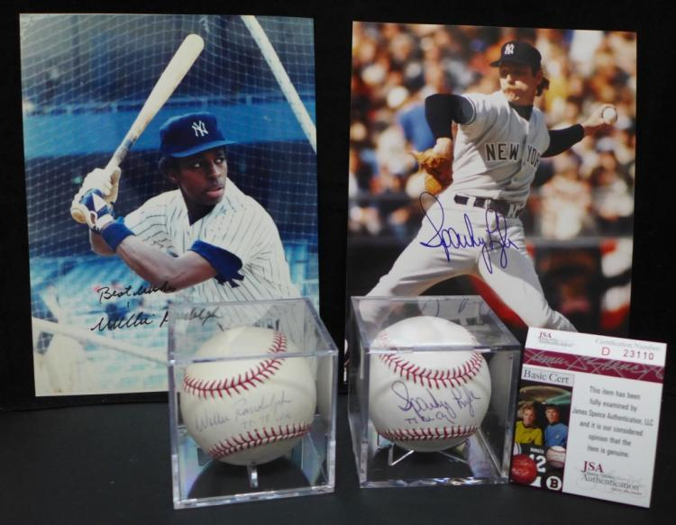 Yankees Autographed Baseballs & Photos