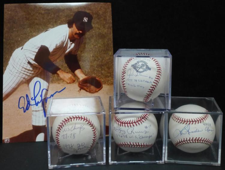 1977-1978 World Series Yankees Signed Baseballs