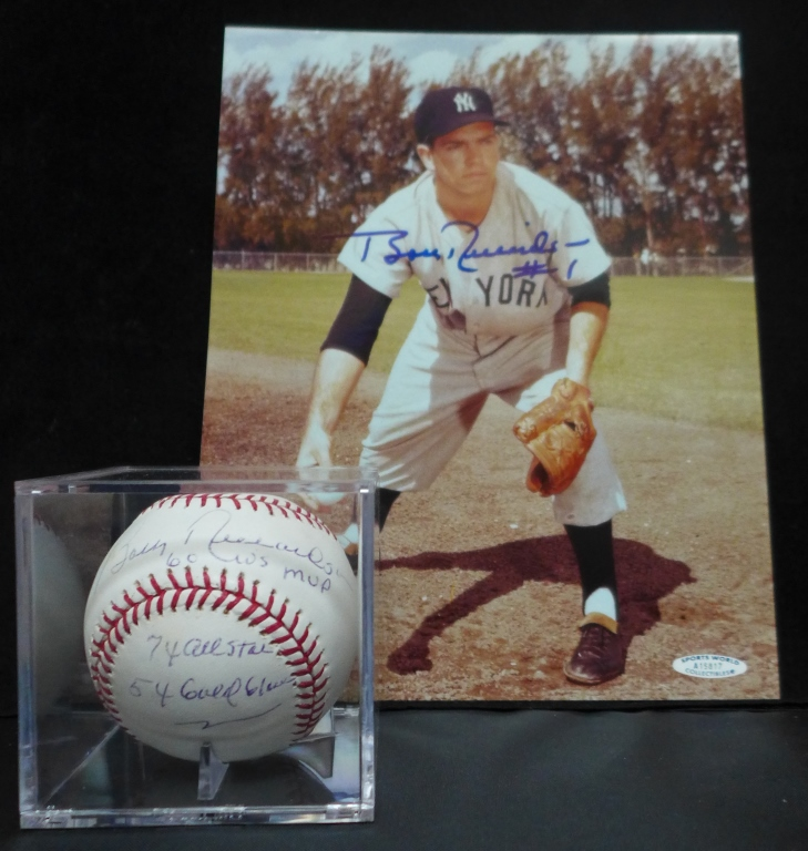 Bobby Richardson Autographed Photo & Ball