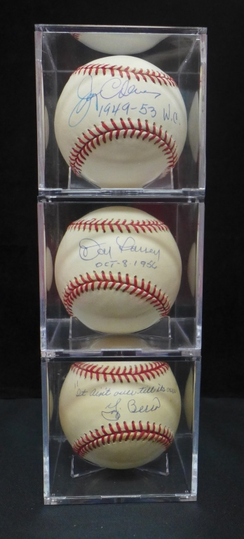 Vintage Yankee Signed American League Baseballs