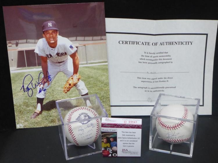 Roy White & Bucky Dent Autographed Baseballs