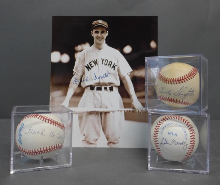 Vintage Yankee  Autographed Baseballs & Photo