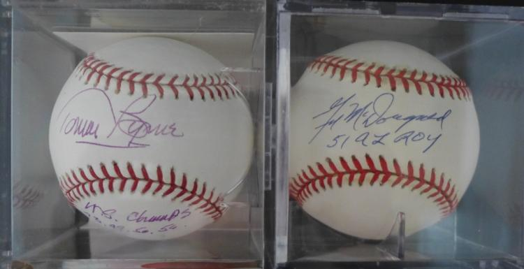 Two Vintage Yankee Signed Baseballs