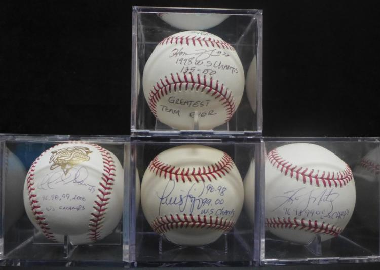 1990's Yankees World Series Signed Baseballs