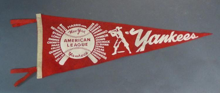 Vintage New York American League Yankees Pennant