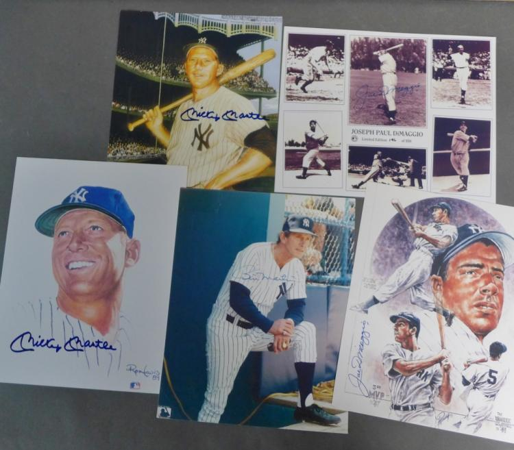 Grouping of NY Yankees Autographs