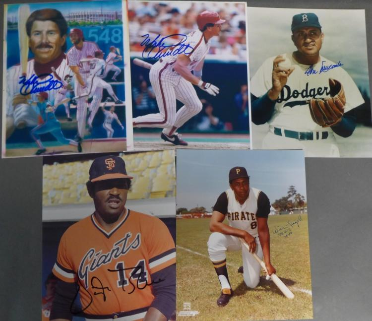 Collection of MLB Player Autographed Photos