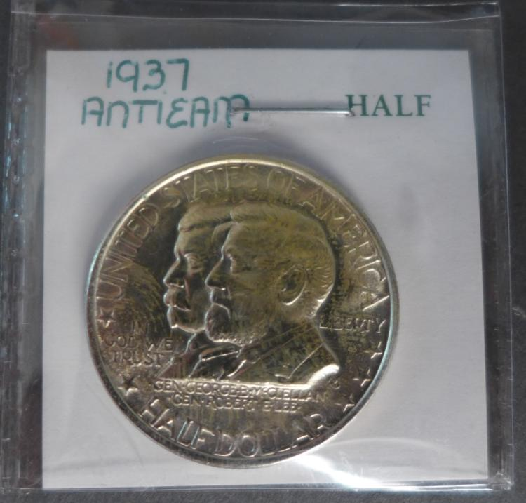 1937 Antietam Silver Commemorative Half Dollar