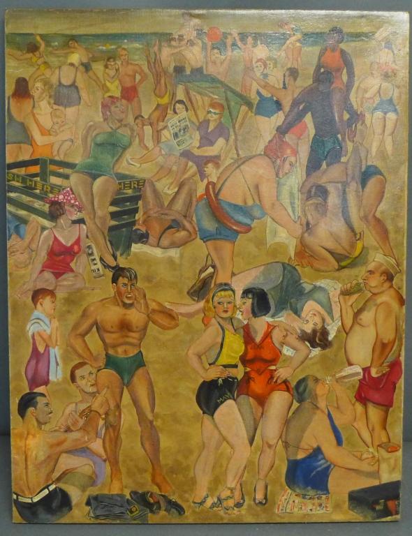 Turn of the Century Beach Painting