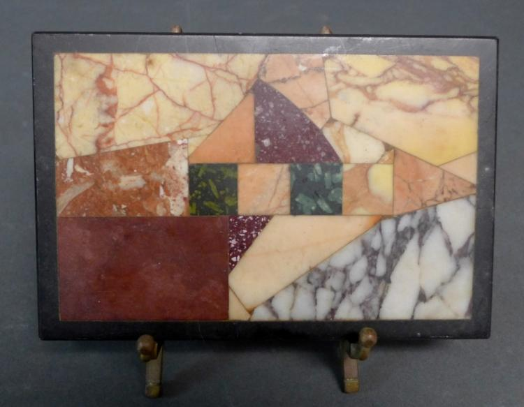 Antique Inlaid Specimen Marble Tablet Stone