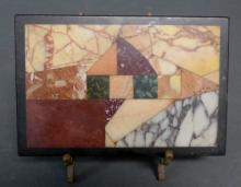 Antique Inlaid Specimen Marble Tablet Stone