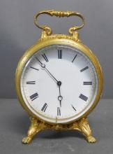 Antique French Round Carriage Clock
