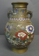 Japanese Bronze Champleve Vase
