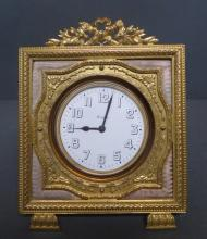 Antique 8 Day Easel Clock