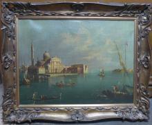 Antique Venetian Boat Scene