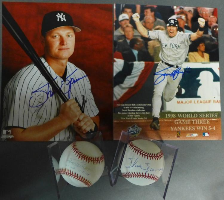 NY Yankees Autographed Photos & Baseballs