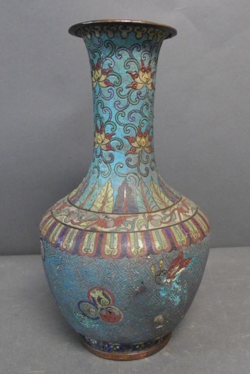 Antique Cloisonne Enamel Vase