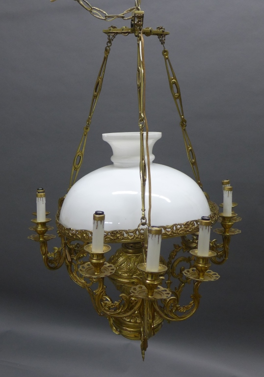 Vintage Hanging Library Lamp