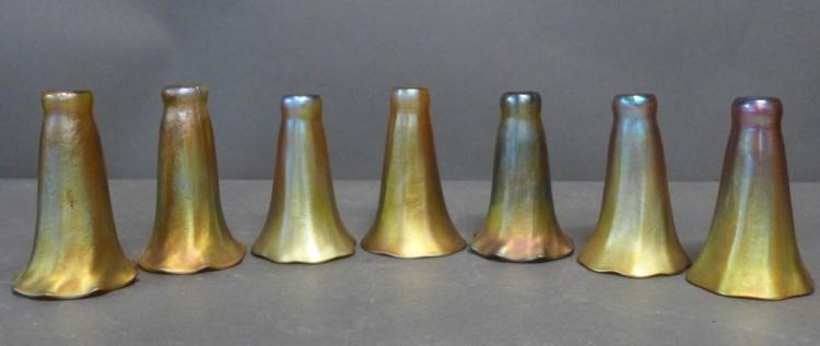 Seven Louis Comfort Tiffany Favrile Lily Shades