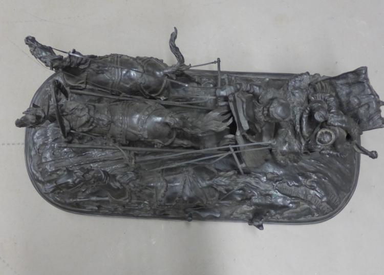 Russian Bronze Troika Scene