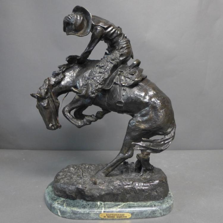 20th C Bronze cast after Frederic Remington