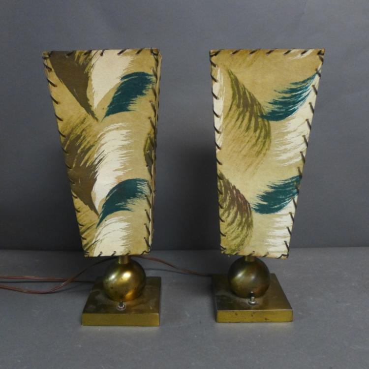 Pair Mid Century Table Lamps
