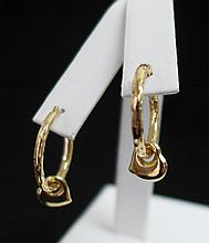 14 kt Gold Hoop Earrings