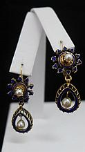 14 kt Gold and Pearl Earrings