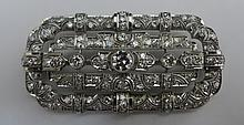 Platinum and Diamond Art Deco Brooch