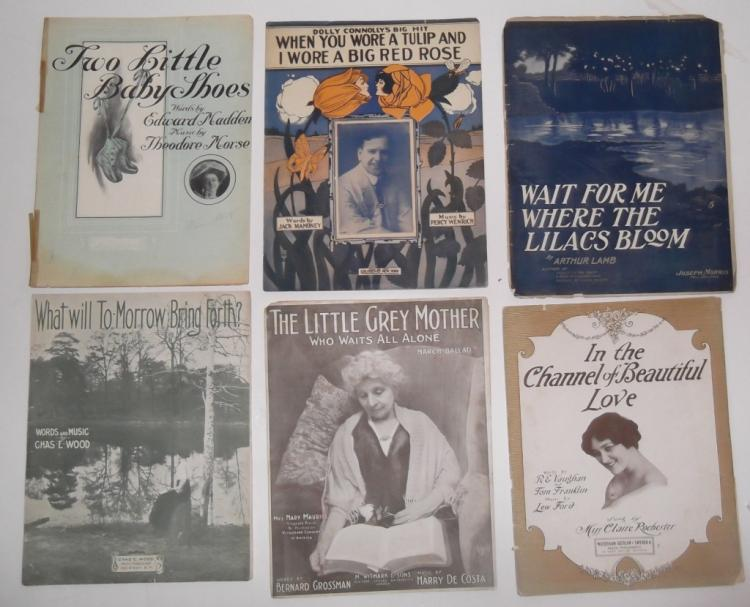 58 PIECES SHEET MUSIC LOT TURN OF THE CENTURY