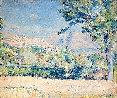 FRANS BERG 1892-1949 Landskap från Cagnes Signerad