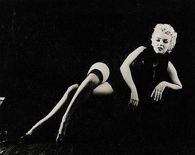 MILTON H. GREENE USA 1922-1985 Black Sitting: