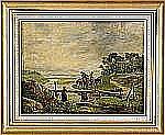 FRITZ VON DARDEL 1817-1901 Landskap med ryttare