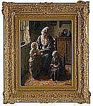 BERNHARD POTHAST Holland 1882-1966 Familjeidyll