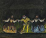 GÉZA FARAGO Ungern 1877-1928 Teaterscen Signerad