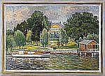 ANTON GENBERG 1862-1939 Kanalmotiv från Djurgården