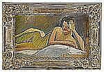 IVAN AGUÉLI 1869-1917 Liggande modell Olja på duk