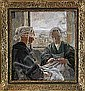 CARL WILHELMSON 1866-1928 Flickor som lagar segel,, Carl Wilhelmson, Click for value