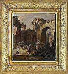 JAKOB ROOS 1682-1730, tillskriven Antika ruiner